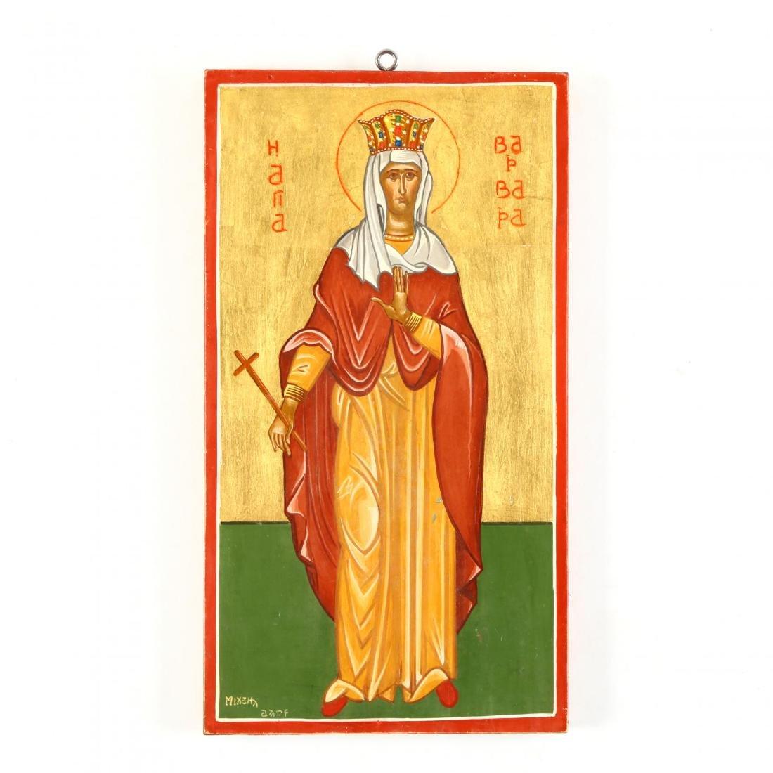Contemporary Greek Icon of St. Barbara