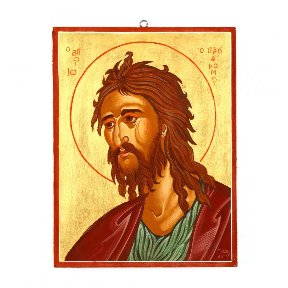 Contemporary Greek Icon of Saint John the Forerunner