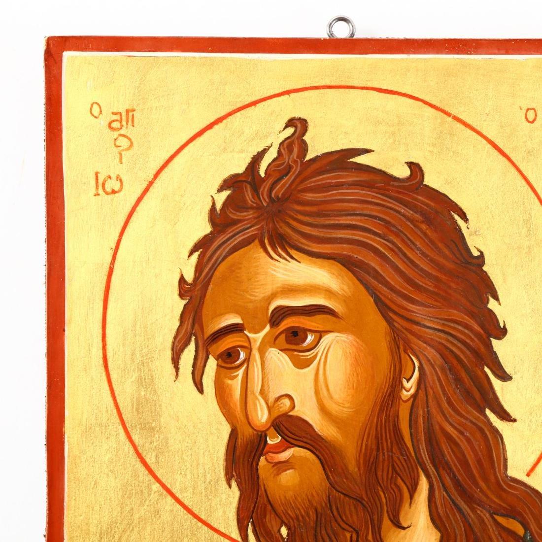 Contemporary Greek Icon of Saint John the Forerunner - 2