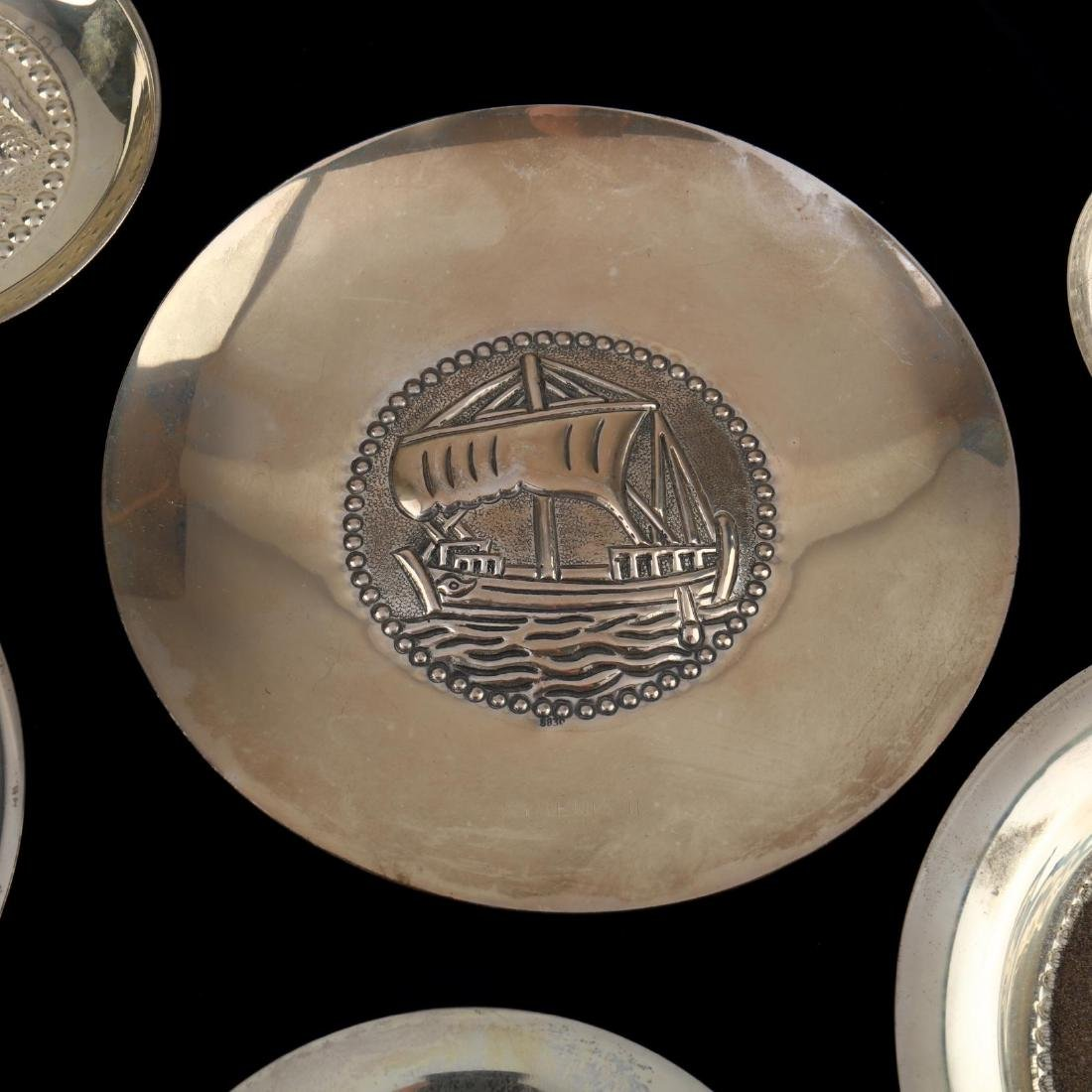 (14) Cypriot .830 Silver Dishes - 3