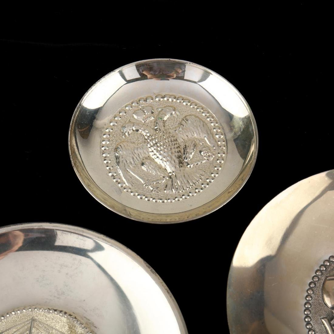 (14) Cypriot .830 Silver Dishes - 4