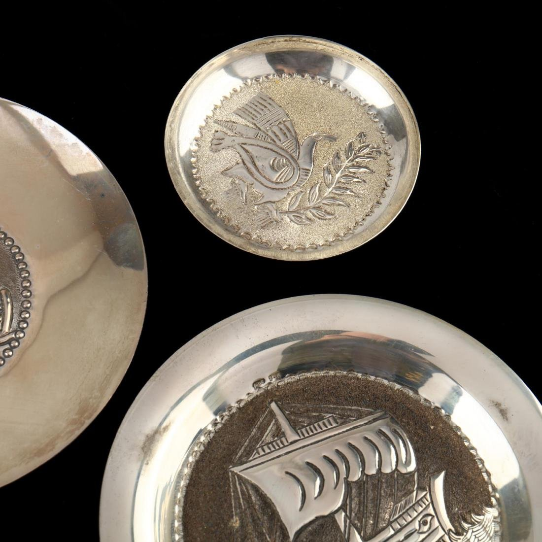 (14) Cypriot .830 Silver Dishes - 5