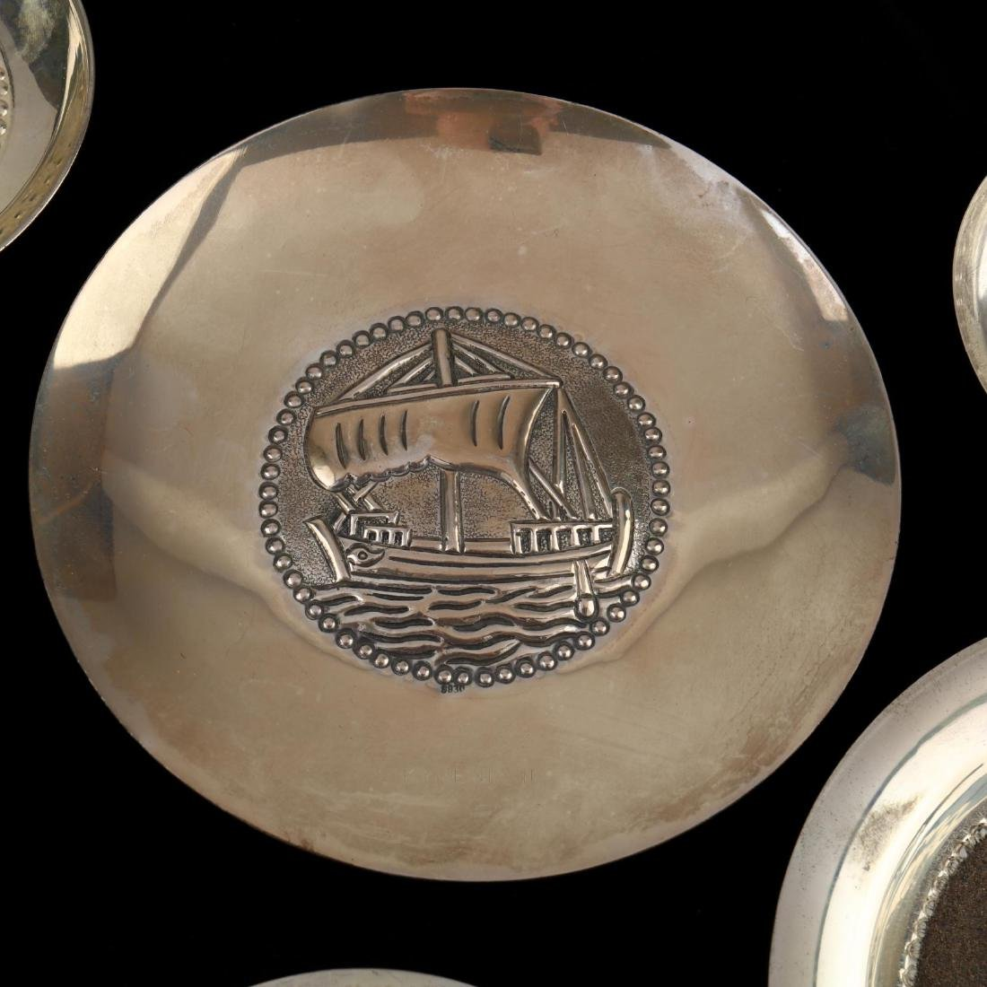 (14) Cypriot .830 Silver Dishes - 9