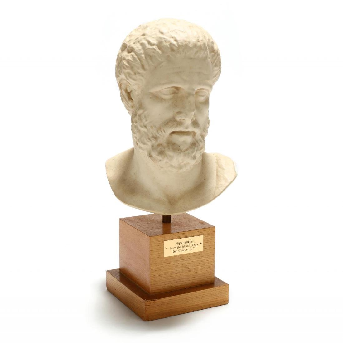 Contemporary Large Plaster Bust of Hippocrates