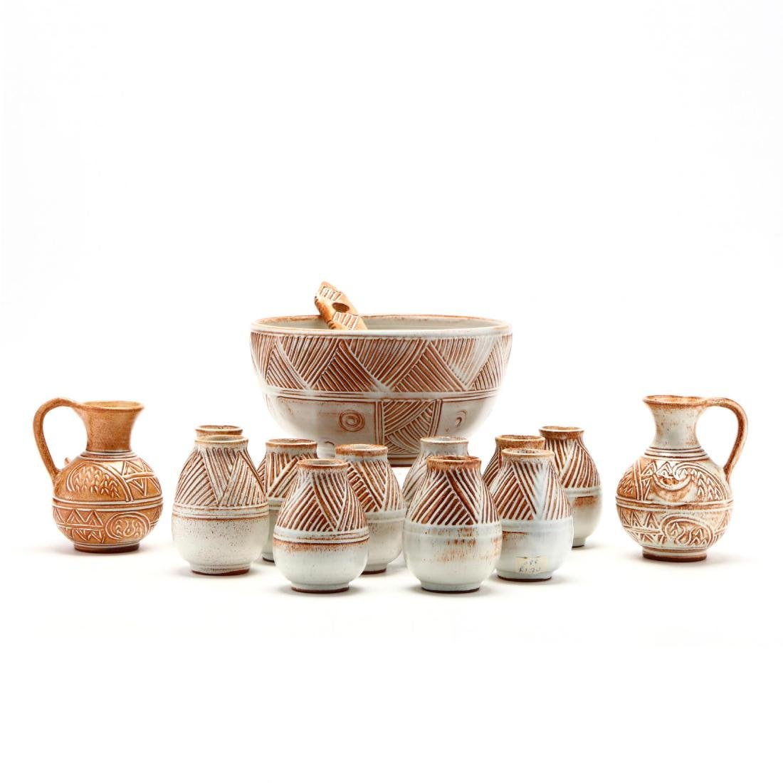 Contemporary Cypriot Pottery Wine Set