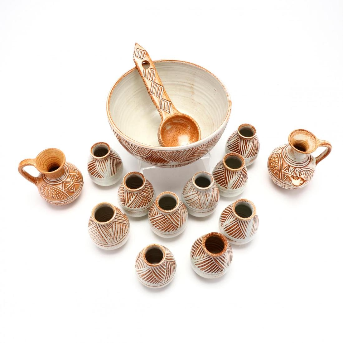Contemporary Cypriot Pottery Wine Set - 2