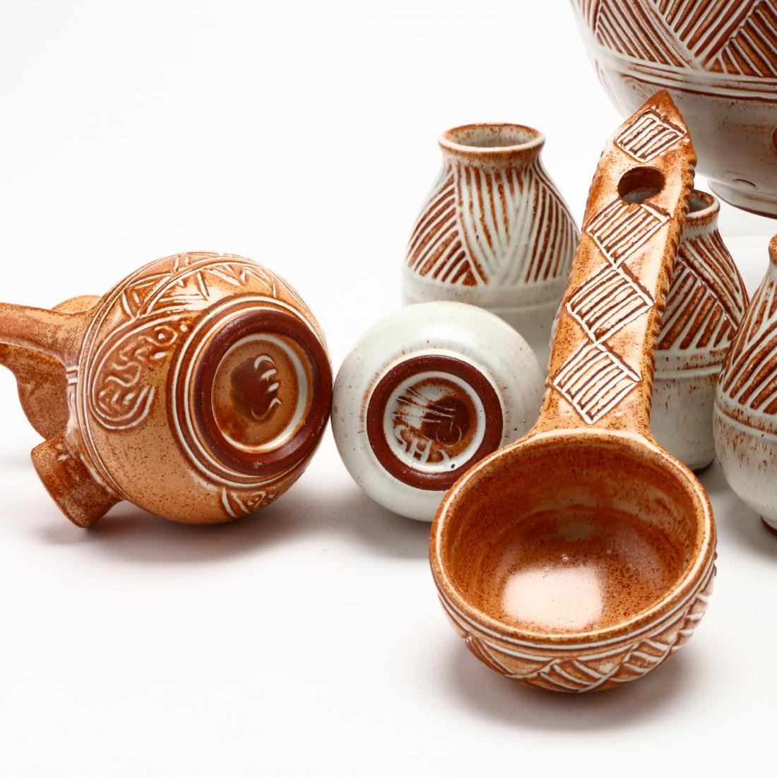 Contemporary Cypriot Pottery Wine Set - 3