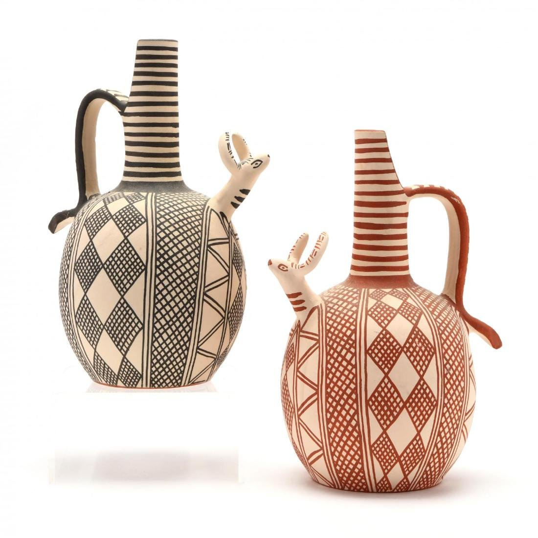 Two Cypriot Ox Pitchers