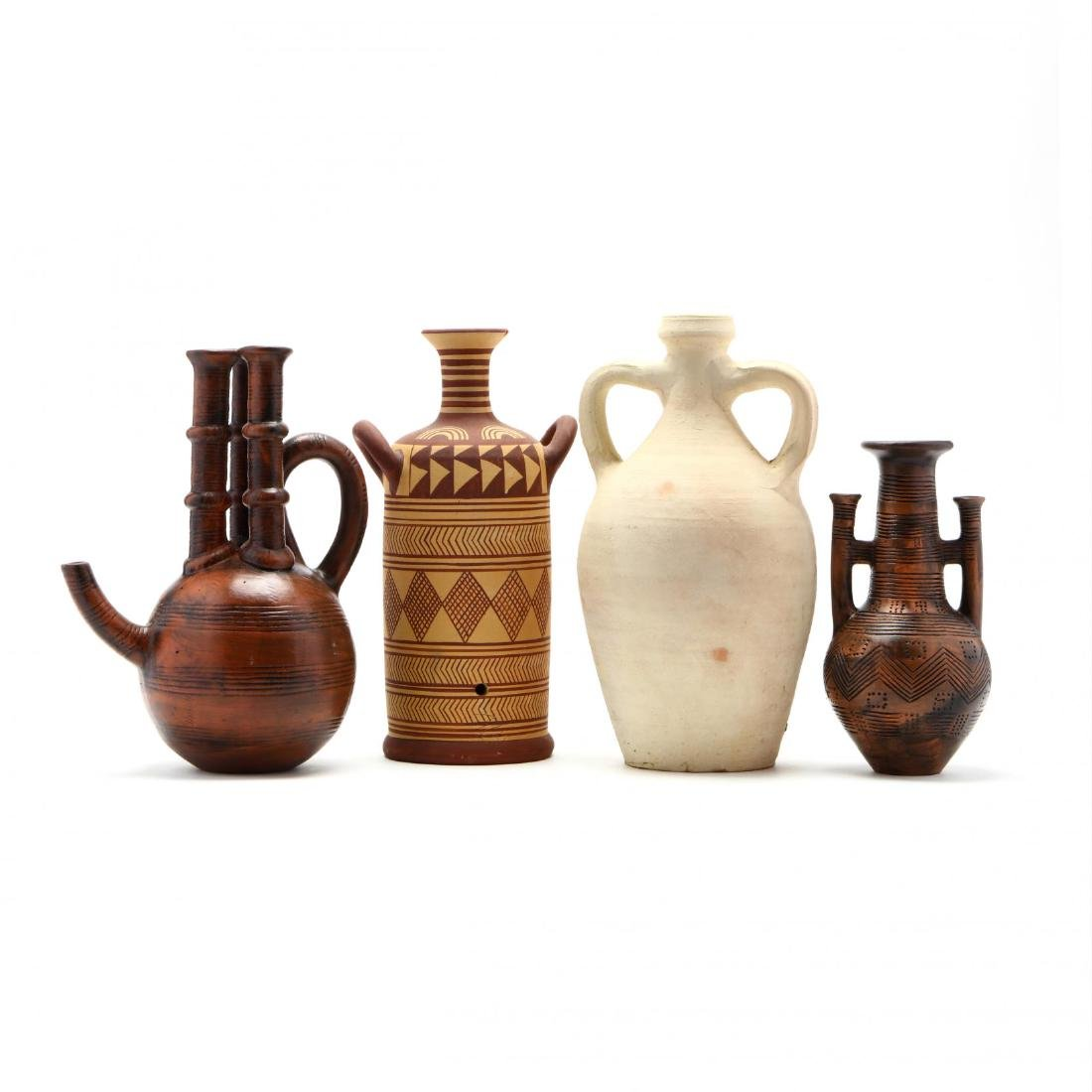Four Pieces of Contemporary Cypriot Pottery
