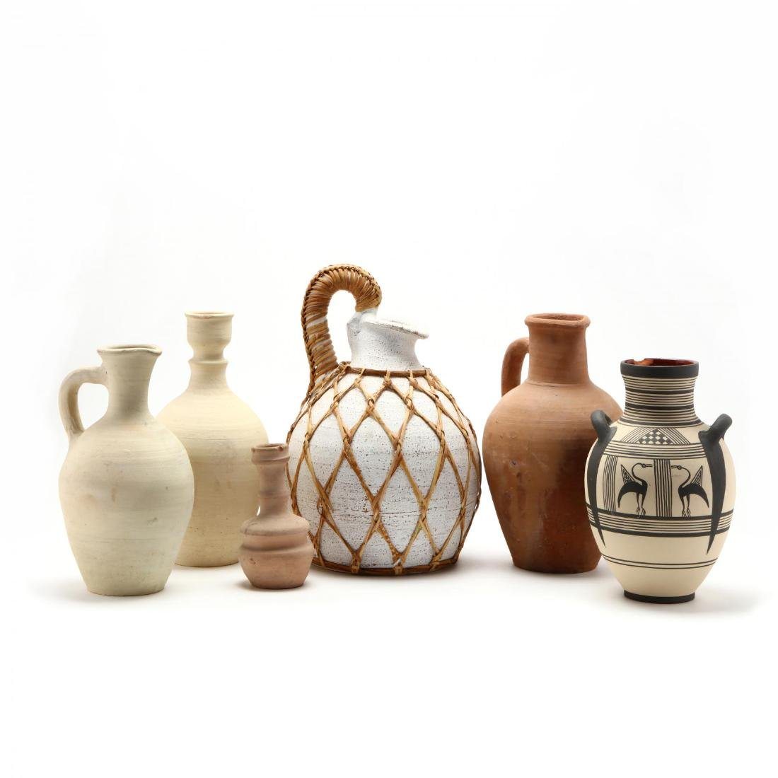 Five Contemporary Cypriot Pottery Vessels