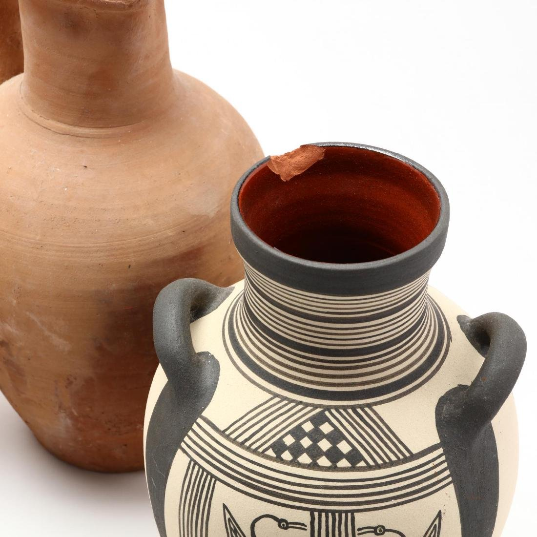Five Contemporary Cypriot Pottery Vessels - 2