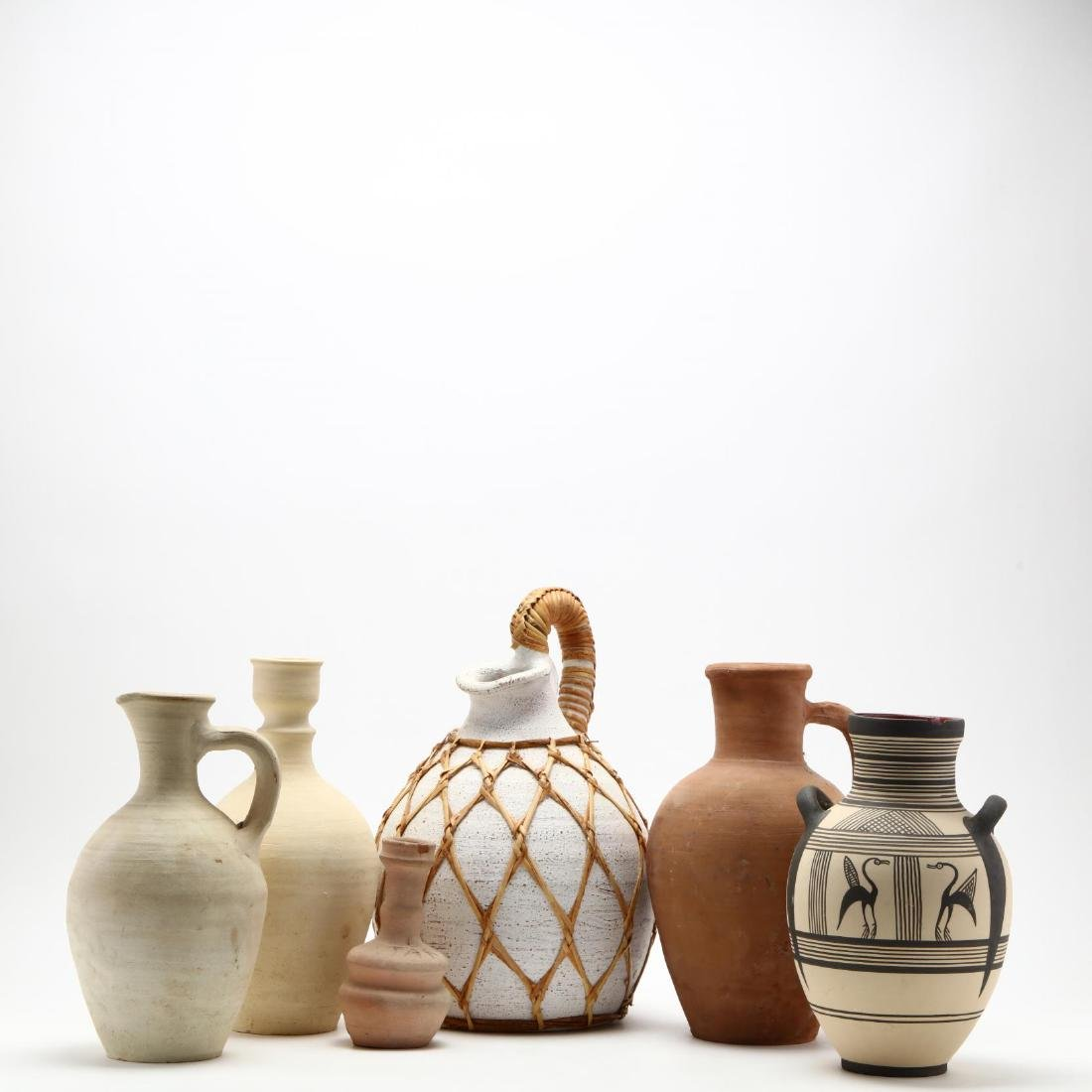 Five Contemporary Cypriot Pottery Vessels - 4