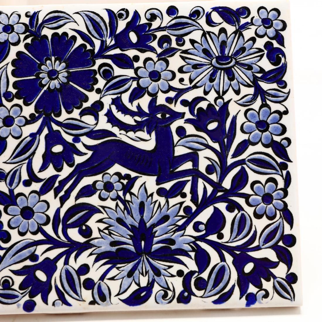Three Hand-Painted Greek Tiles - 4