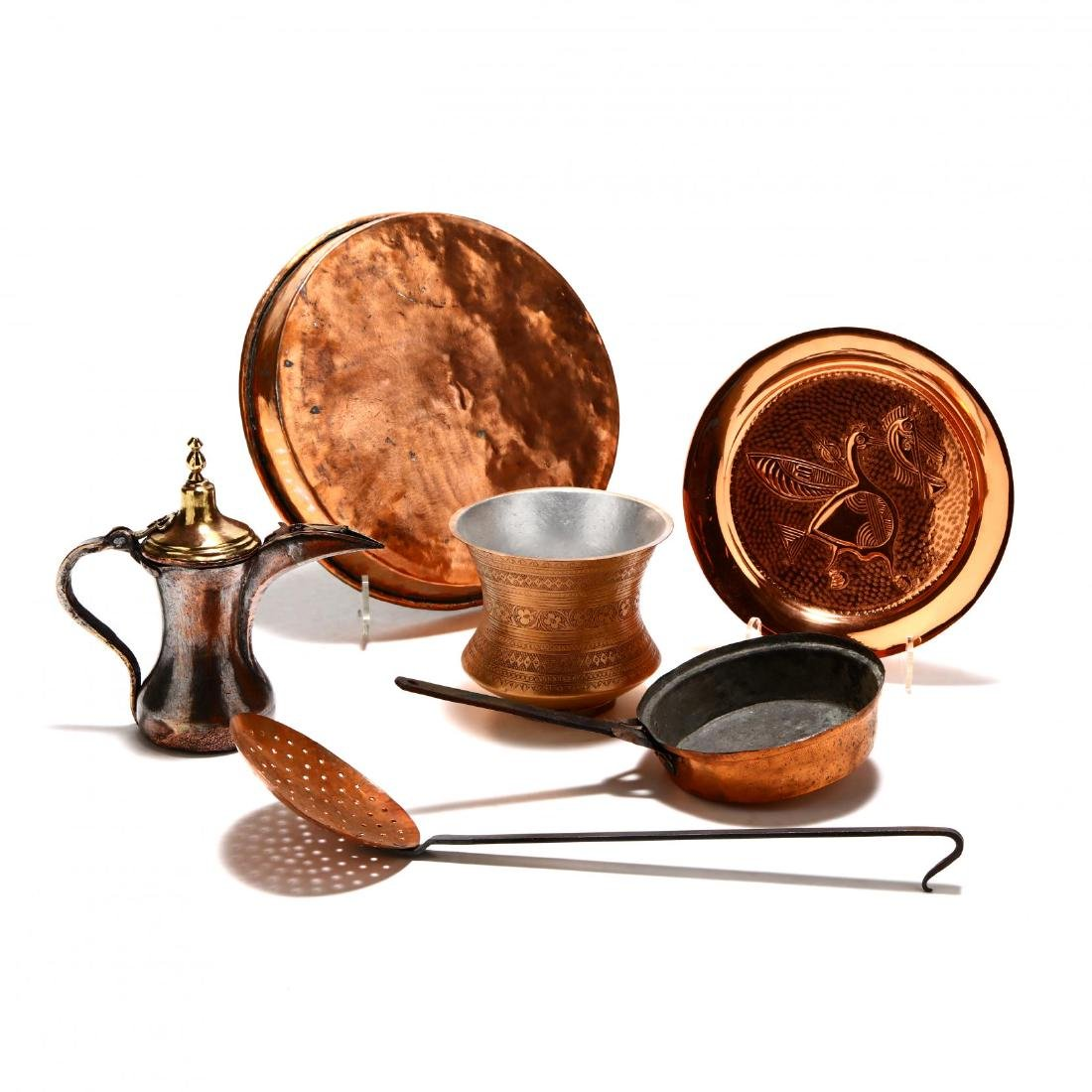 Group of Copper and Metal Kitchenware