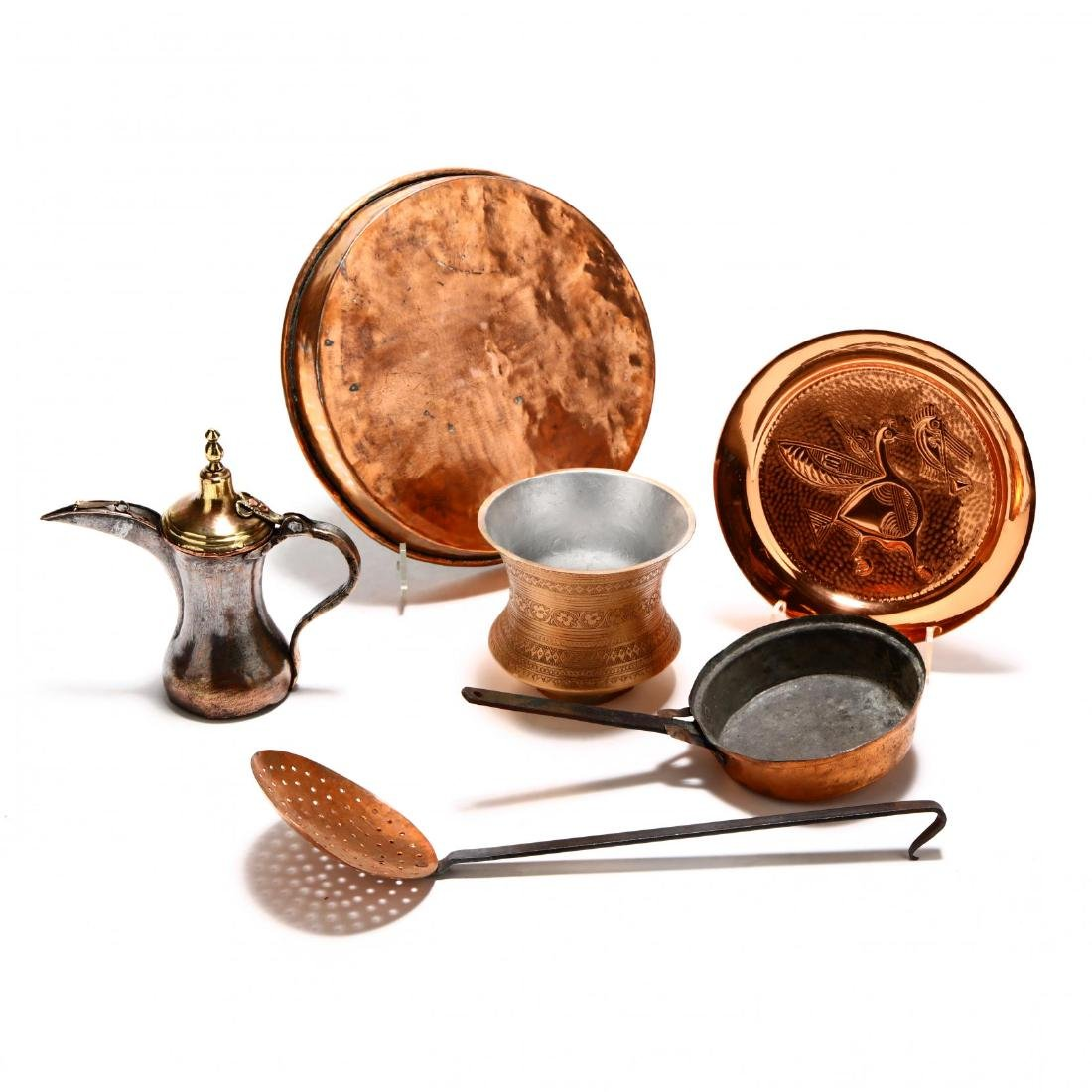 Group of Copper and Metal Kitchenware - 2
