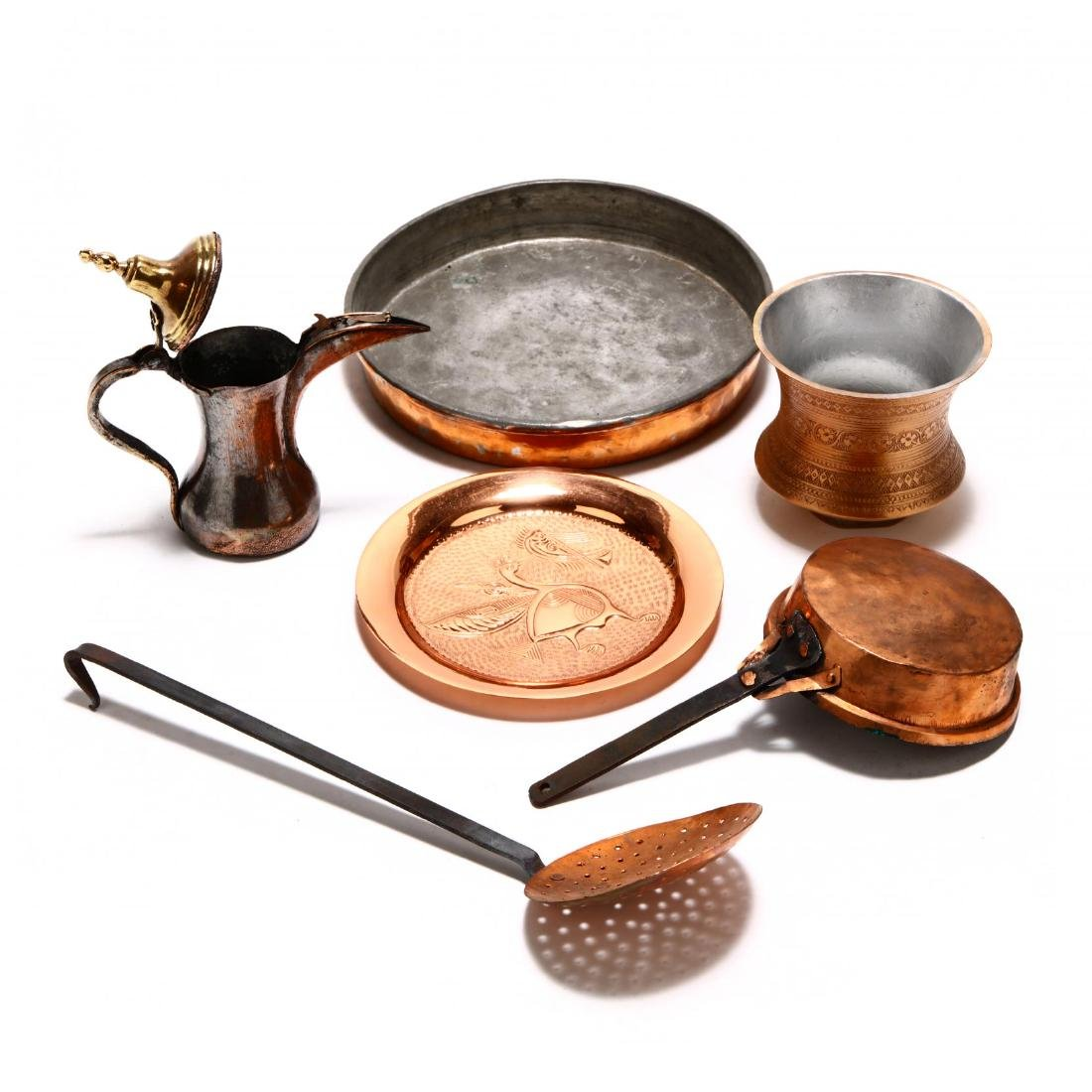Group of Copper and Metal Kitchenware - 3