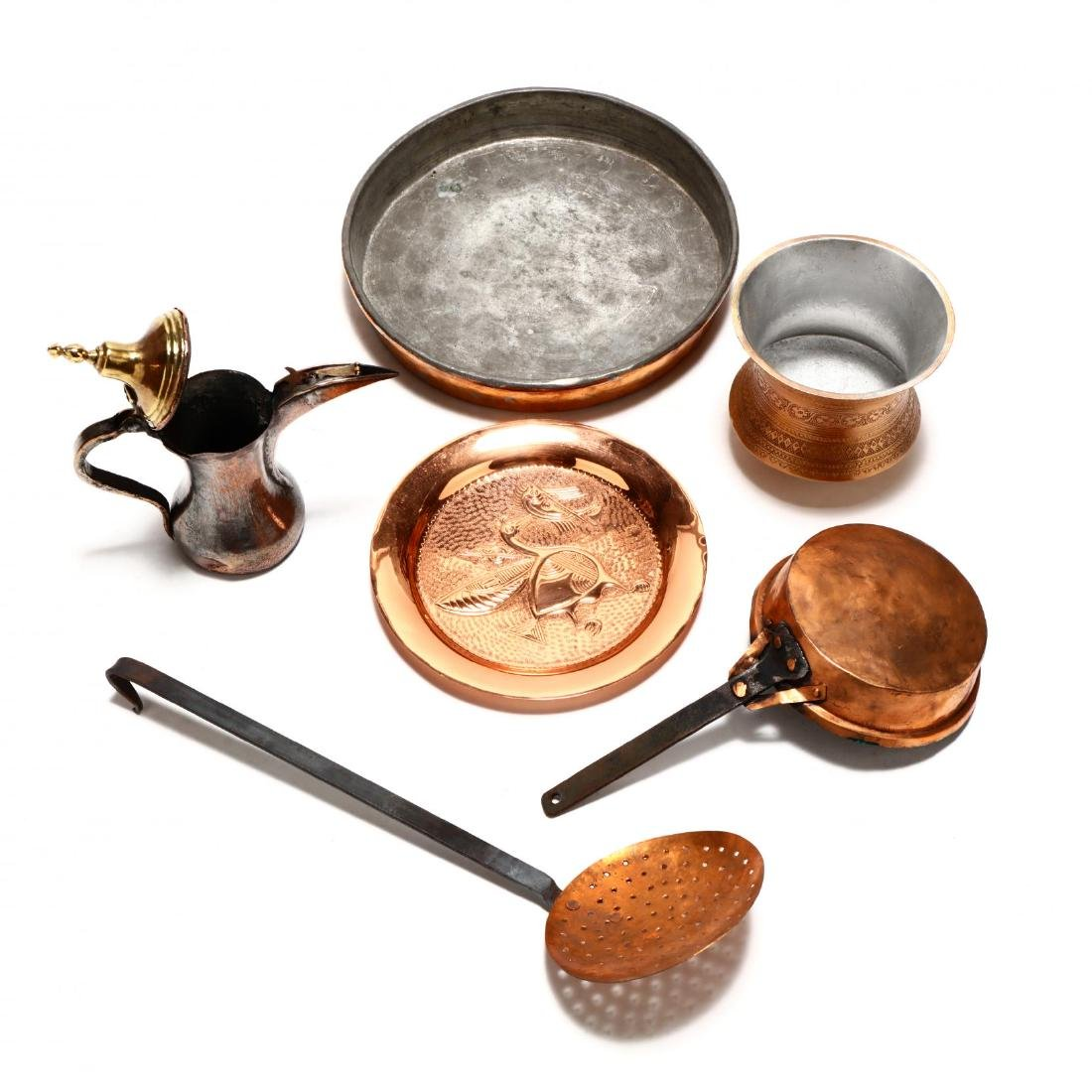 Group of Copper and Metal Kitchenware - 4