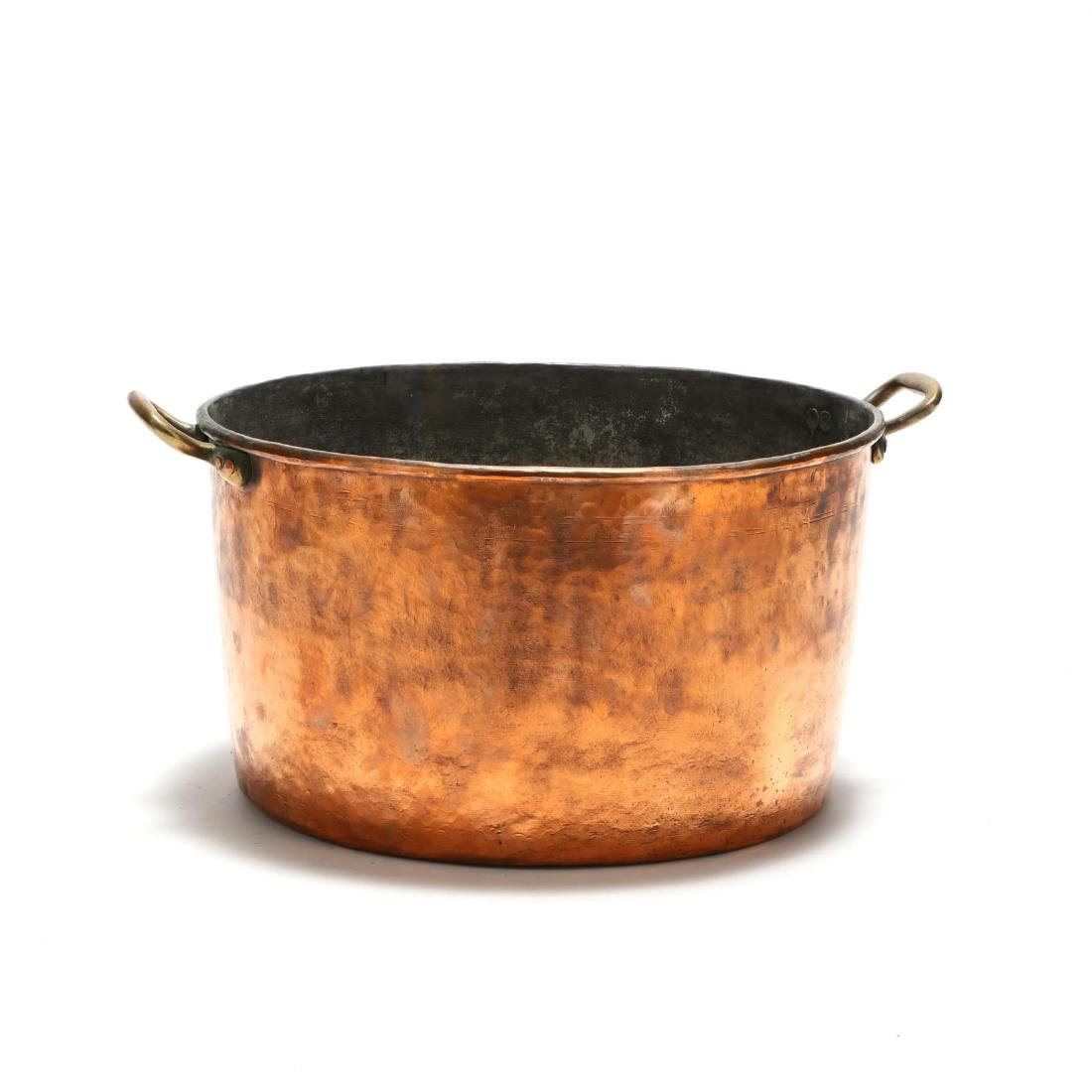 Large Hand-Hammered Copper Pot