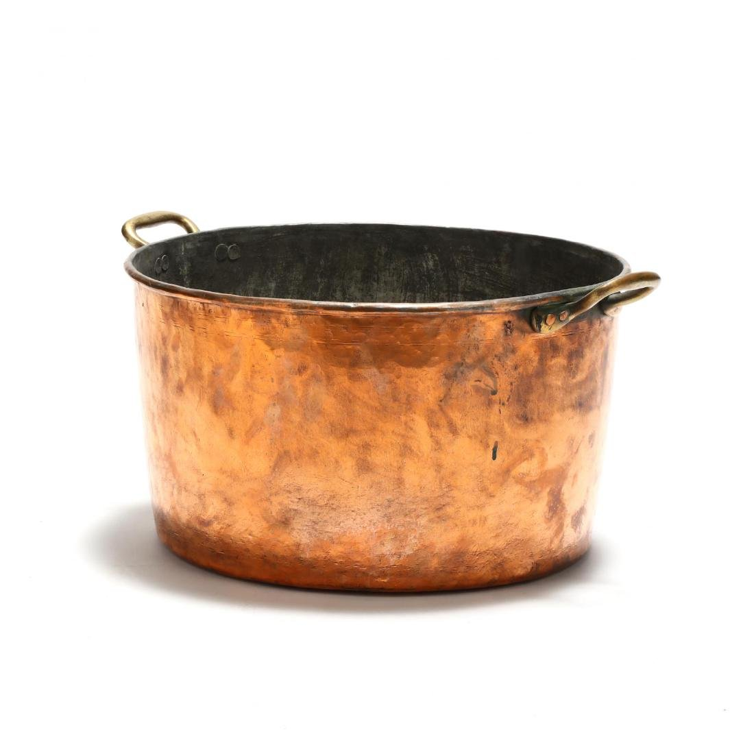 Large Hand-Hammered Copper Pot - 3
