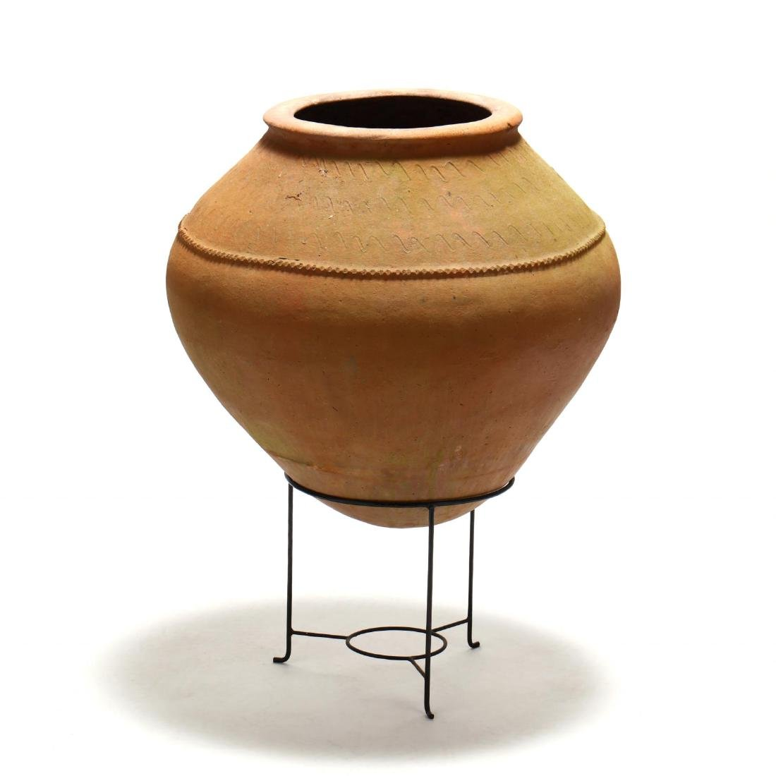 Cypriot Traditional Terracotta Storage Jar - 4