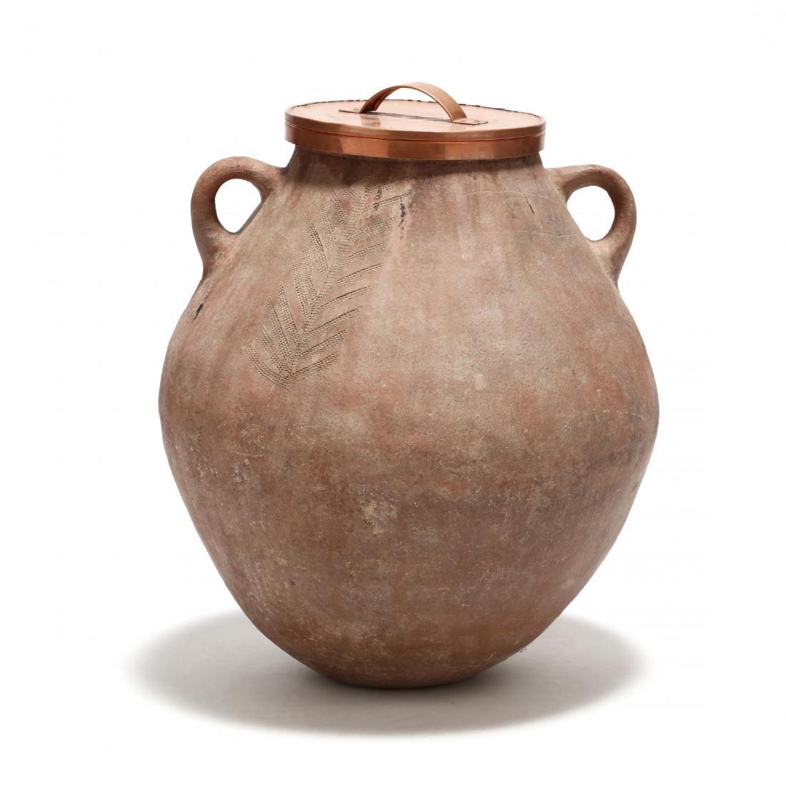 Cypriot Traditional Terracotta Storage Jar