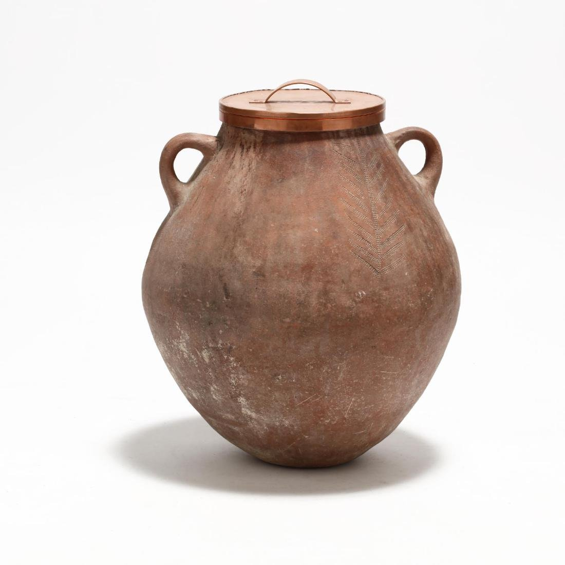 Cypriot Traditional Terracotta Storage Jar - 5