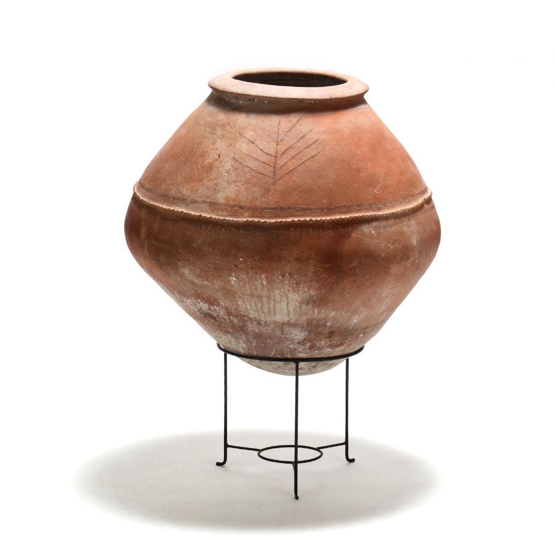 Cypriot Traditional Terracotta Storage Jar - 5