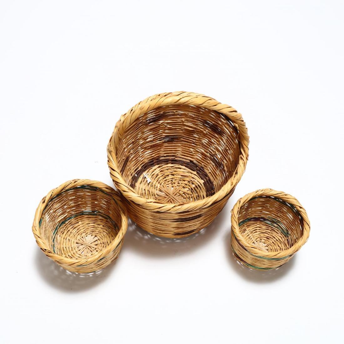 Assembled Set of Three Graduated Reed Baskets - 2