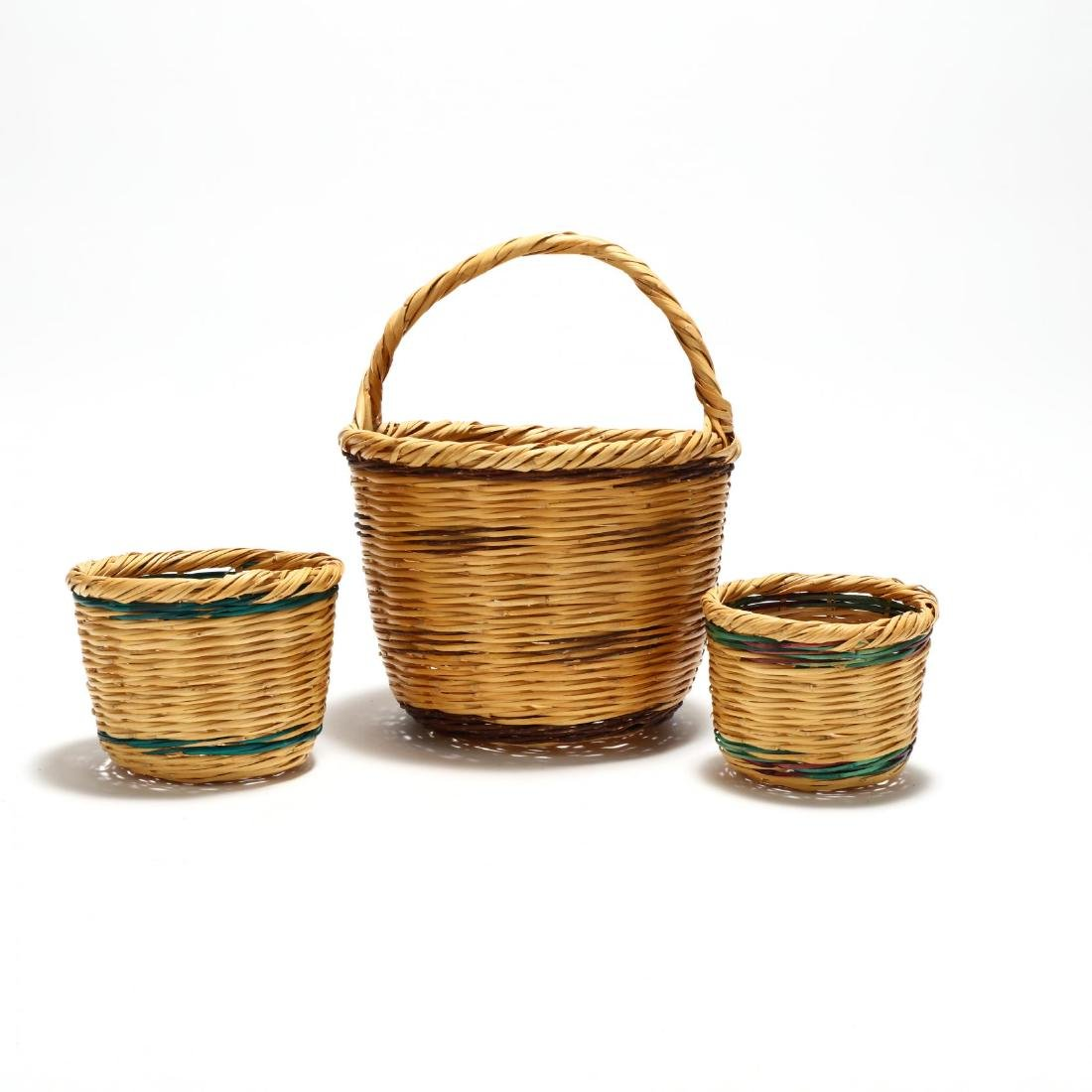 Assembled Set of Three Graduated Reed Baskets - 3