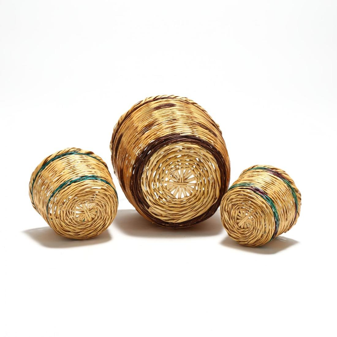 Assembled Set of Three Graduated Reed Baskets - 4