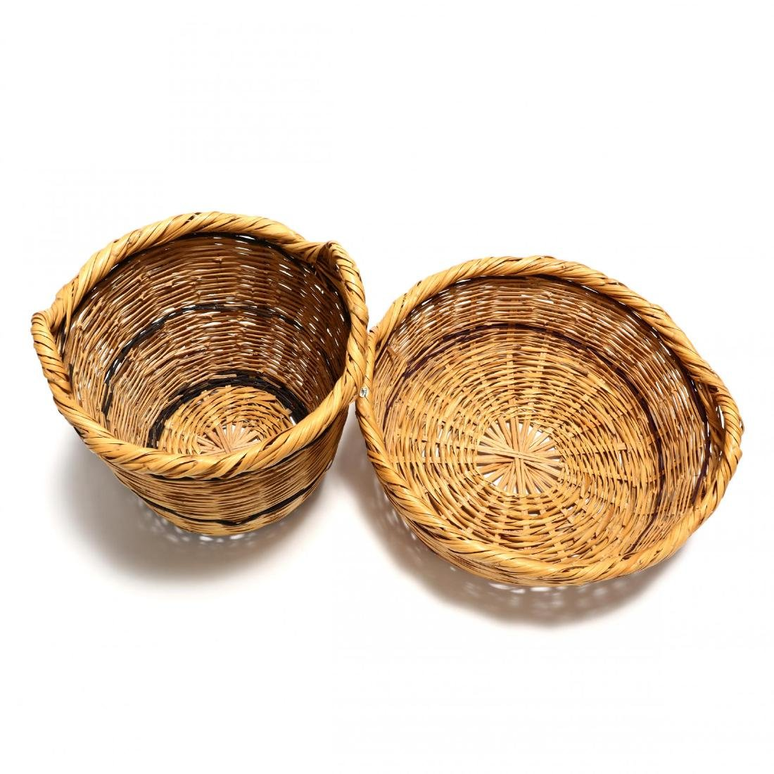 Two Large Woven Reed Baskets - 2
