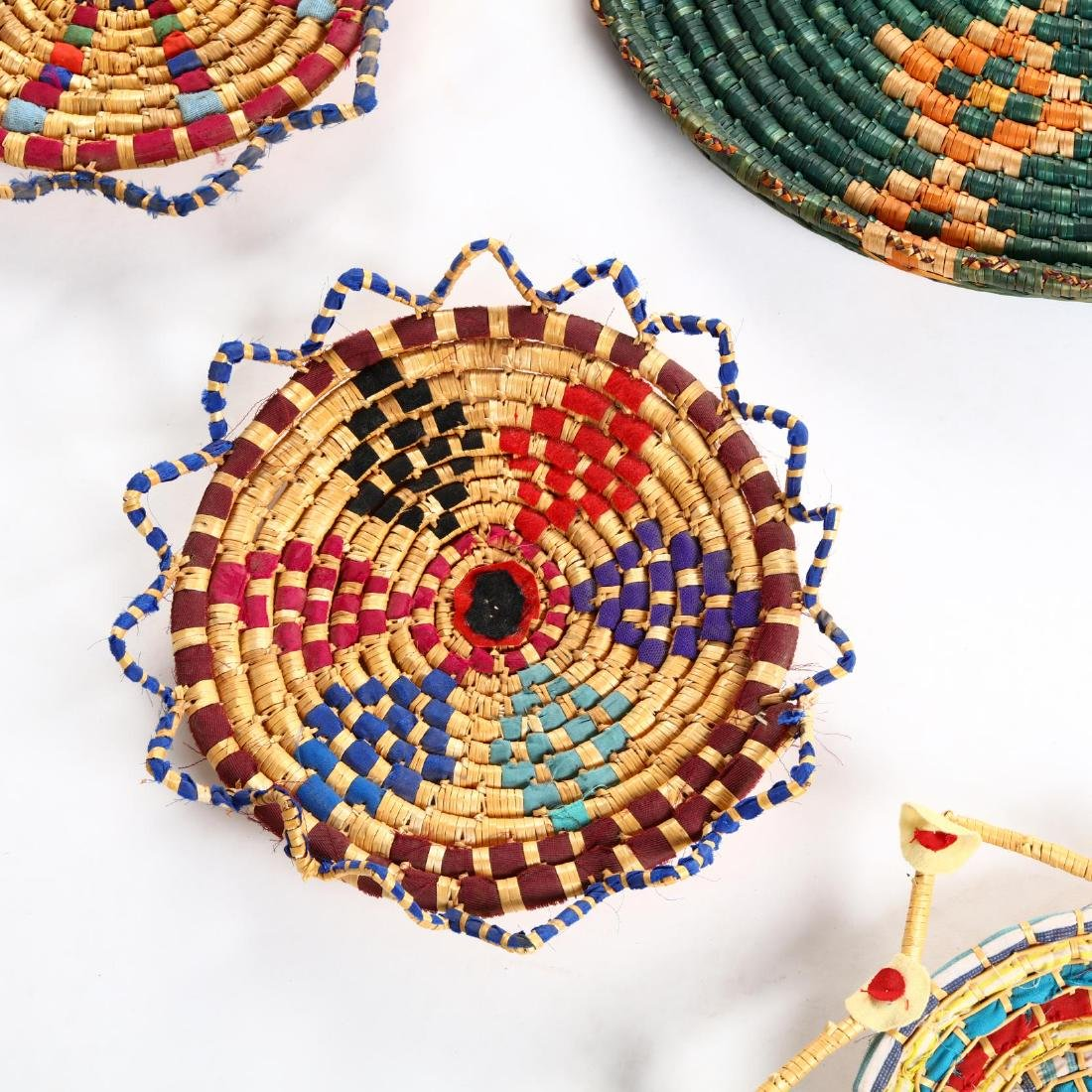 Group of Decorative Cypriot Serving Baskets - 2