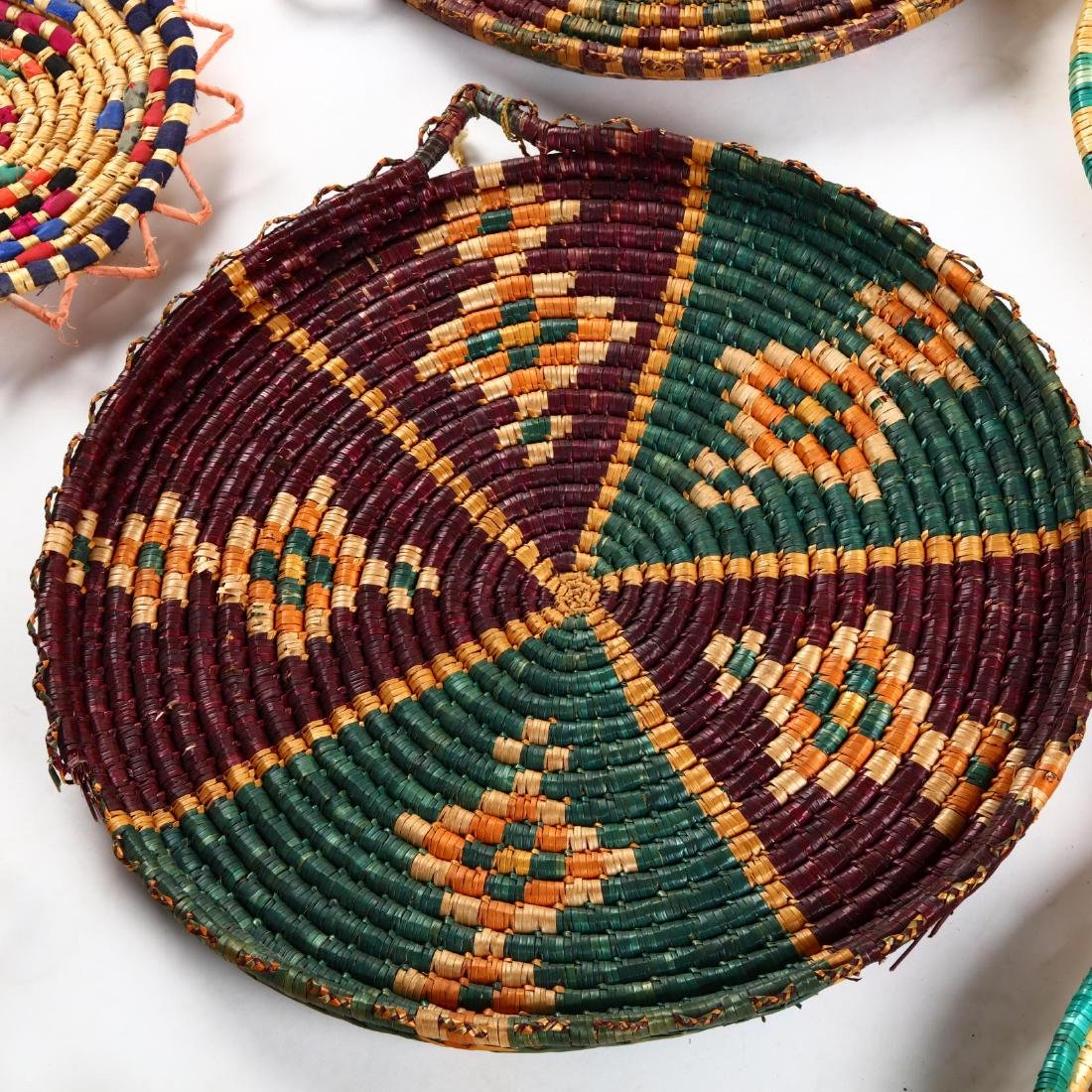 Group of Decorative Cypriot Serving Baskets - 4