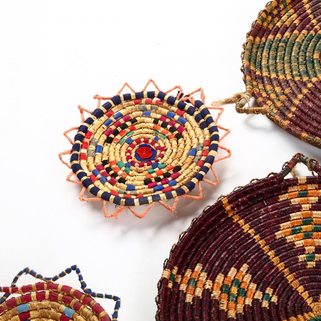 Group of Decorative Cypriot Serving Baskets - 5