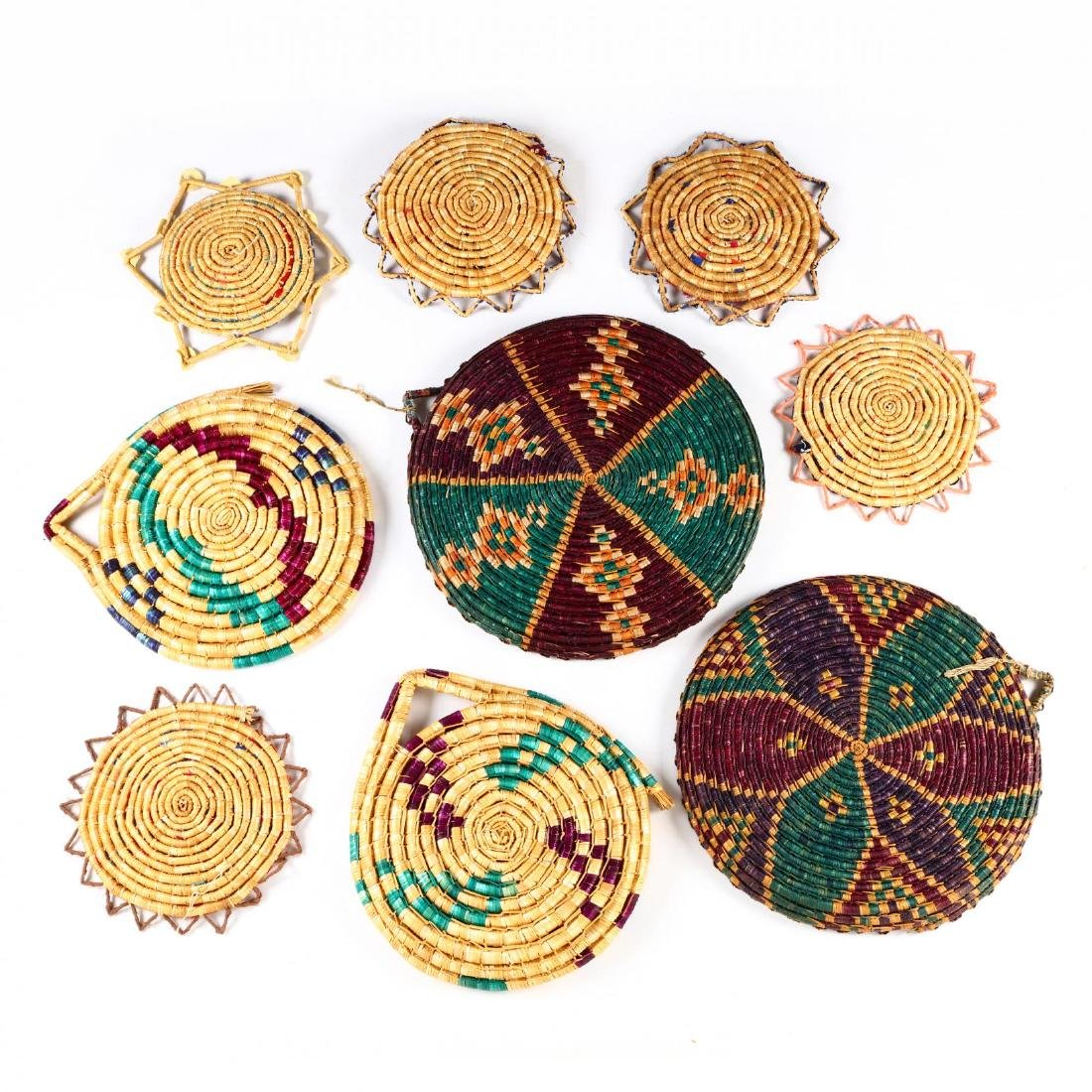 Group of Decorative Cypriot Serving Baskets - 6