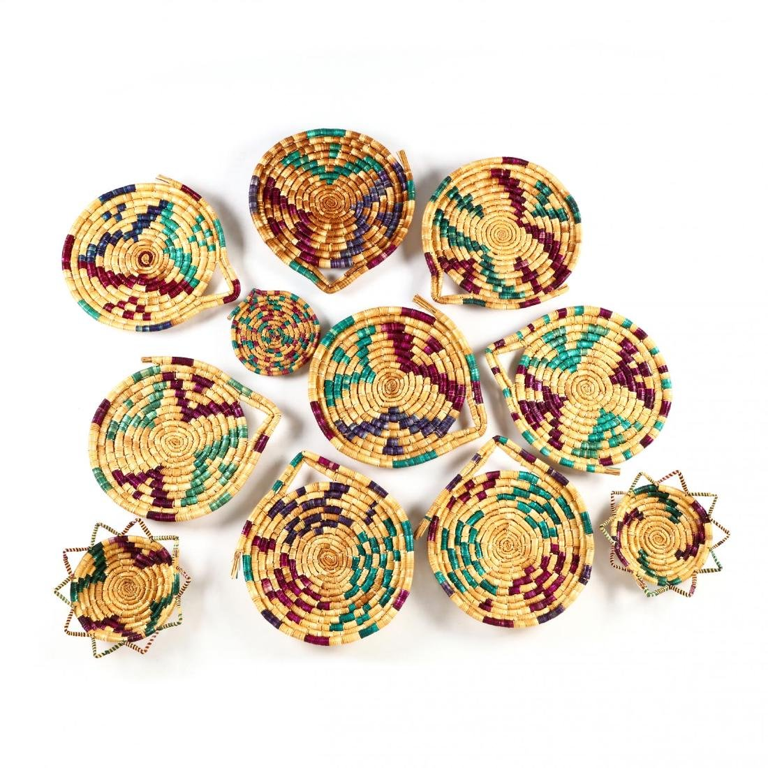 Set of Decorative Woven Straw Table Mats