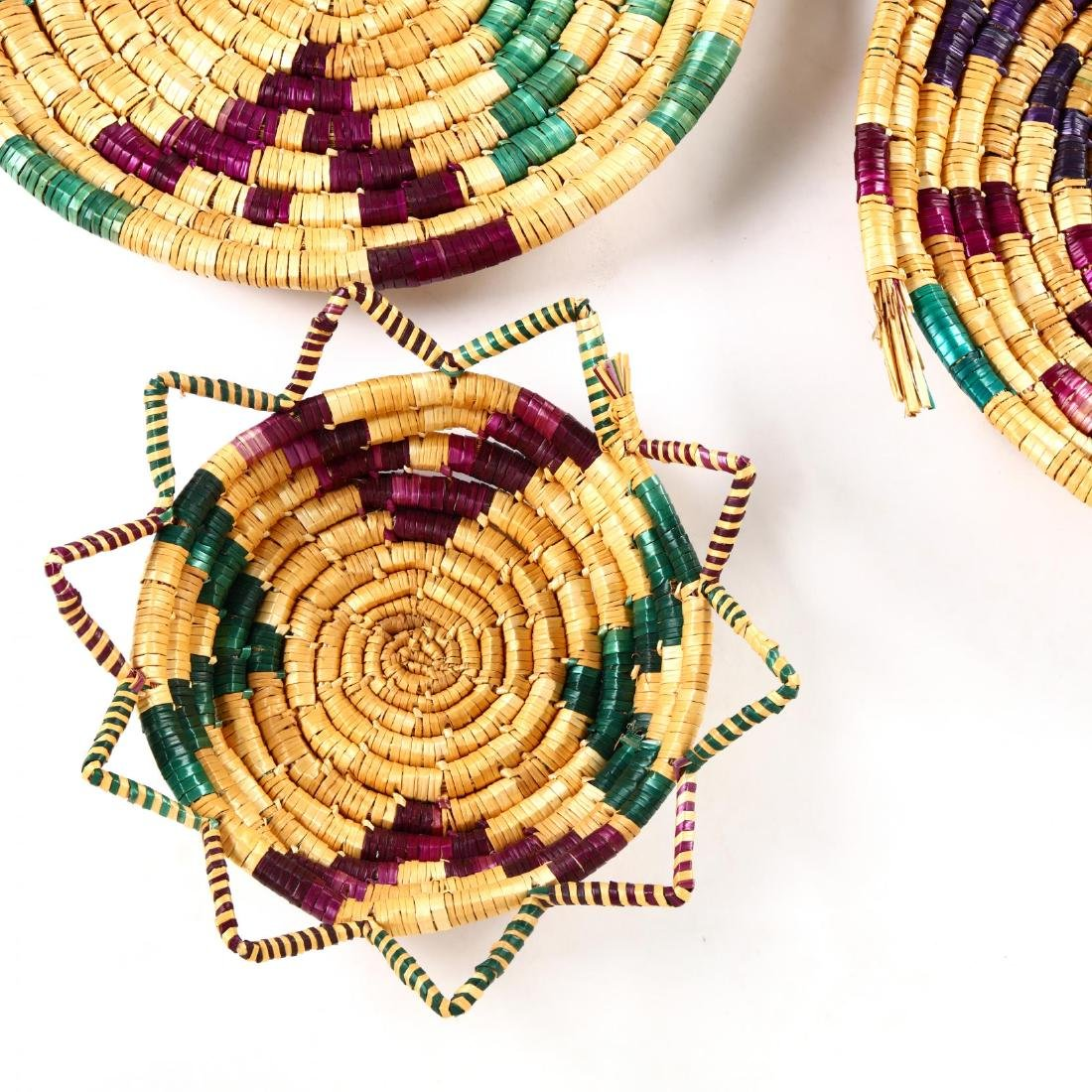 Set of Decorative Woven Straw Table Mats - 5