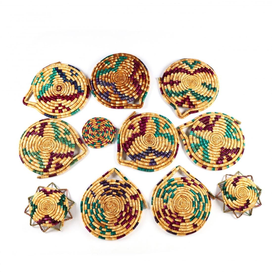 Set of Decorative Woven Straw Table Mats - 8