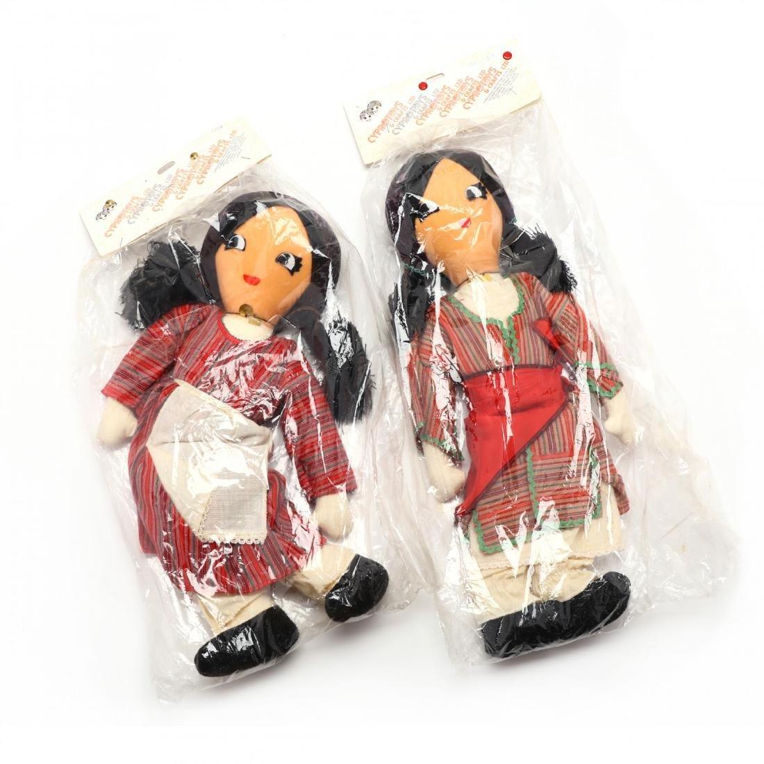 Pair of Handmade Dolls, Cyprus Crafts LTD.