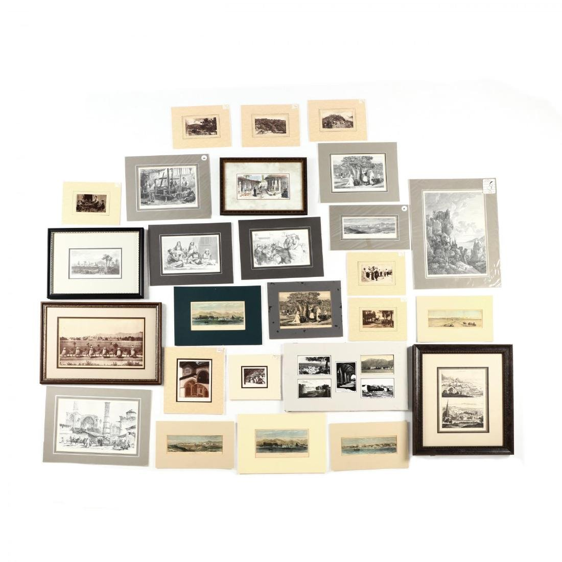 Group of Engravings and Photographs Documenting Old