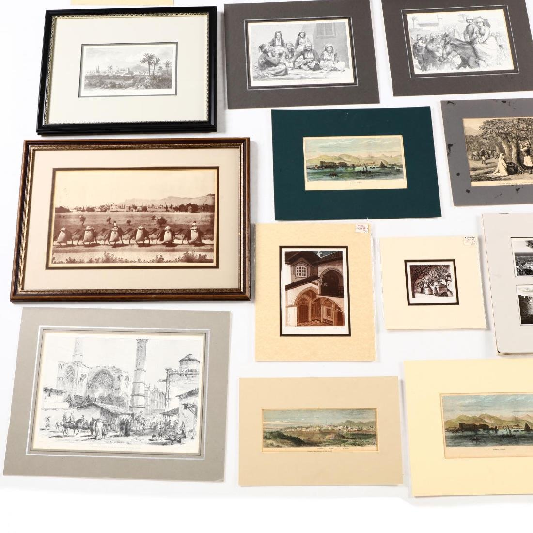 Group of Engravings and Photographs Documenting Old - 2