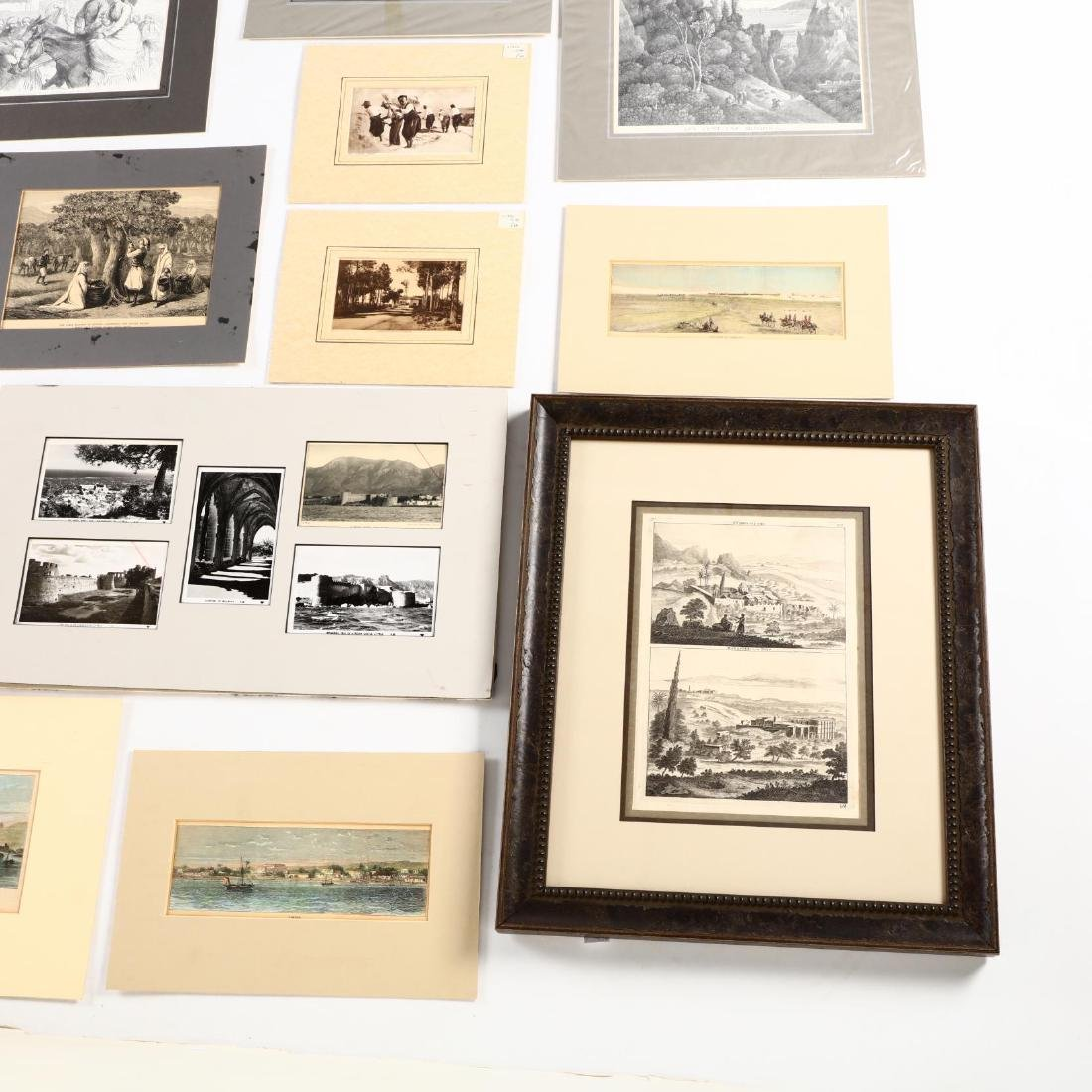 Group of Engravings and Photographs Documenting Old - 3