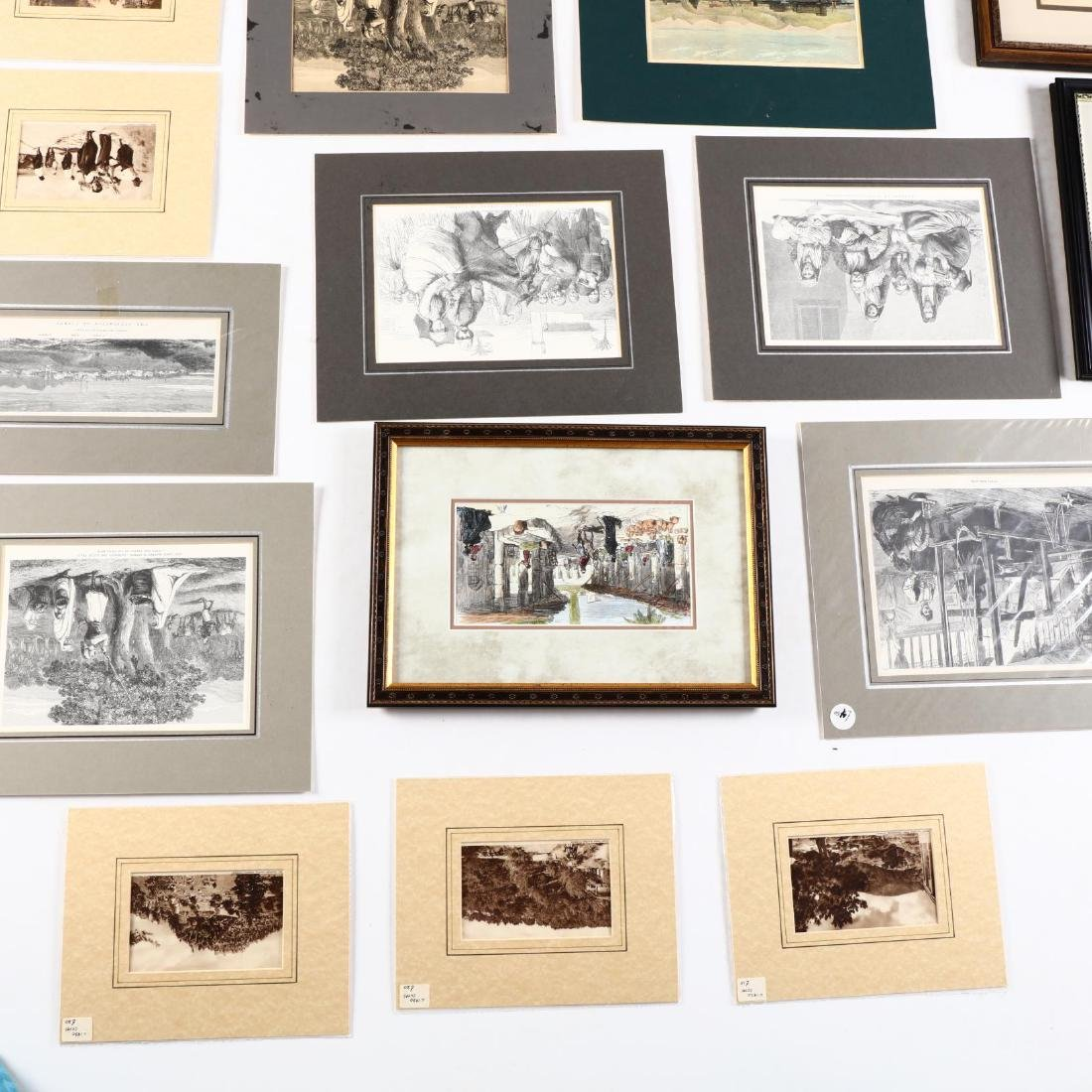 Group of Engravings and Photographs Documenting Old - 4