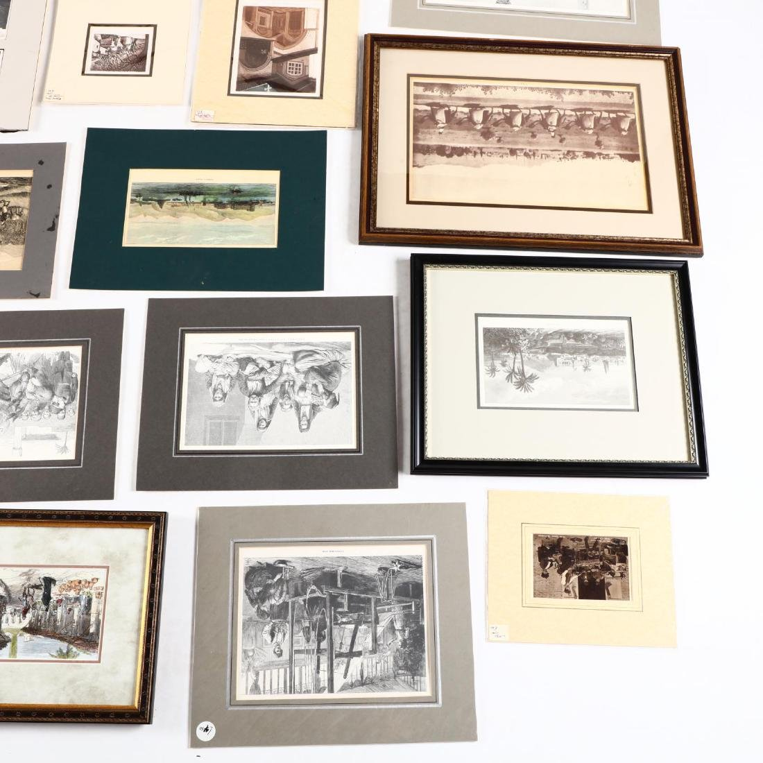 Group of Engravings and Photographs Documenting Old - 5