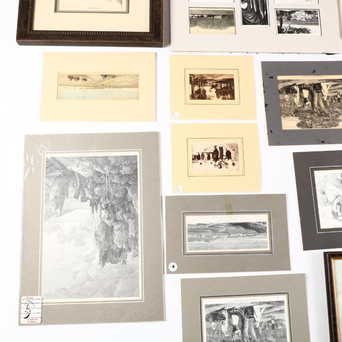 Group of Engravings and Photographs Documenting Old - 6