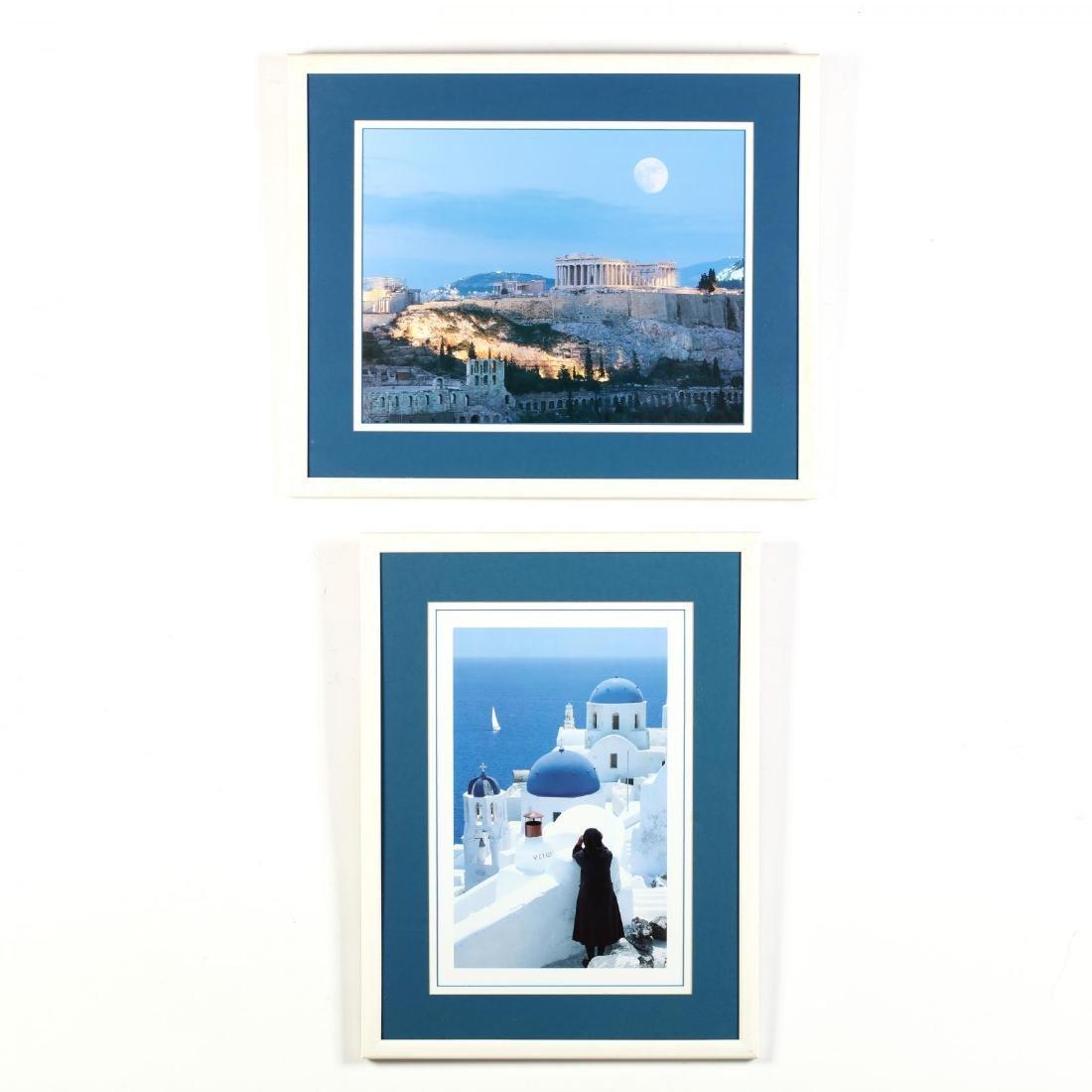 Two Framed Photographs of Greek Landmarks