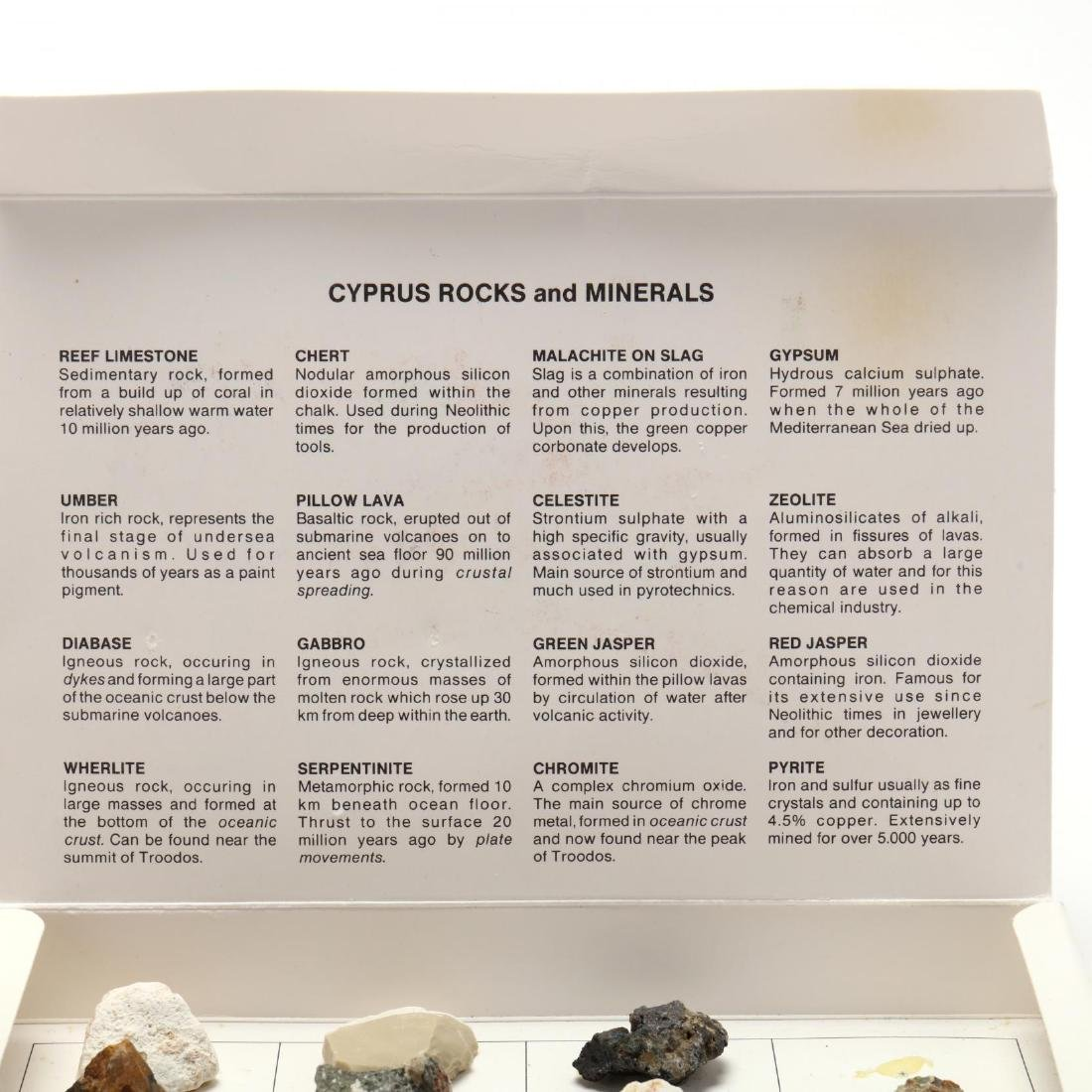 A Boxed Collection of Cypriot Mineral Specimens - 2
