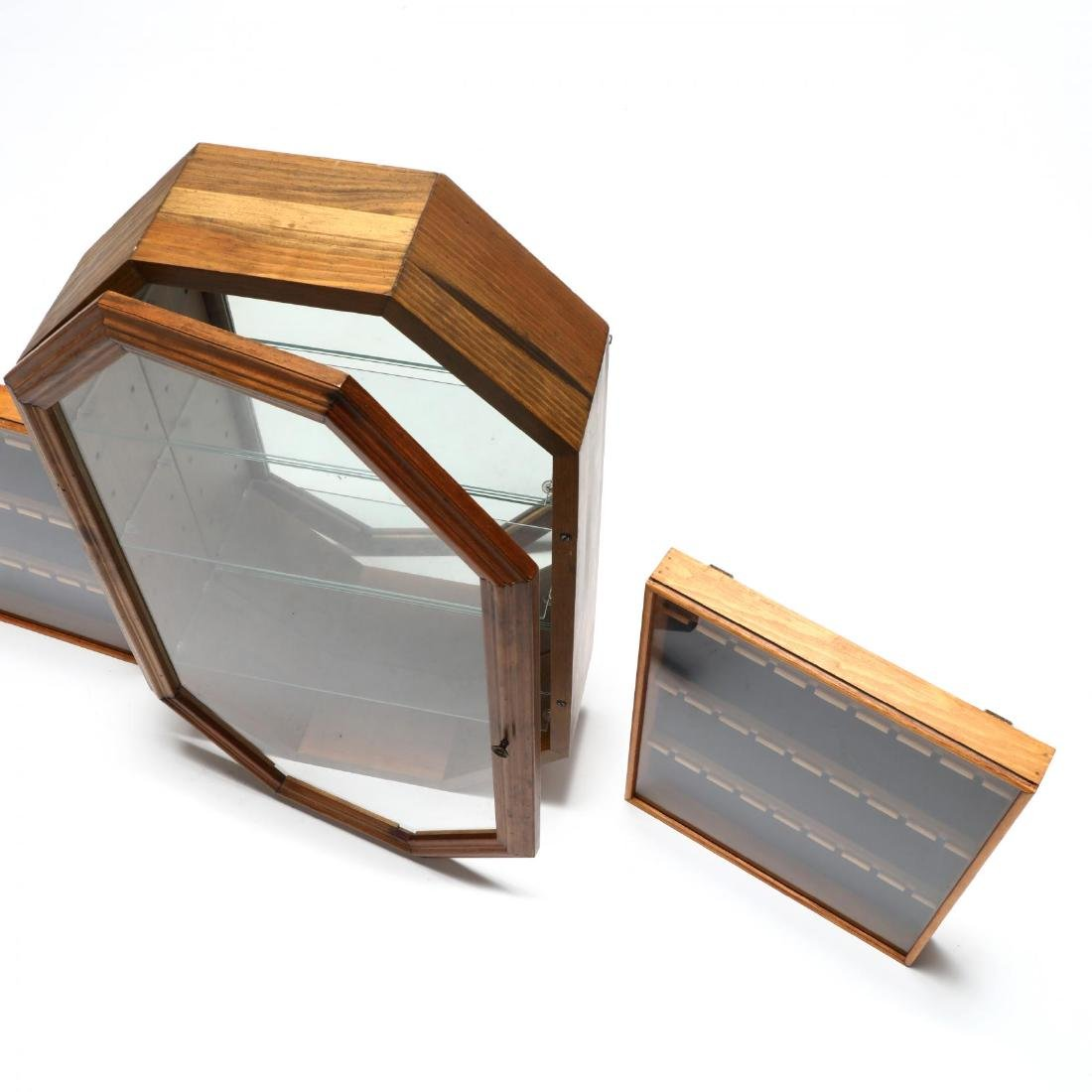 Three Glass-Front Wooden Display Cases - 3