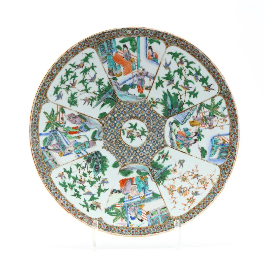 A Chinese Export Porcelain Famille Verte Charger