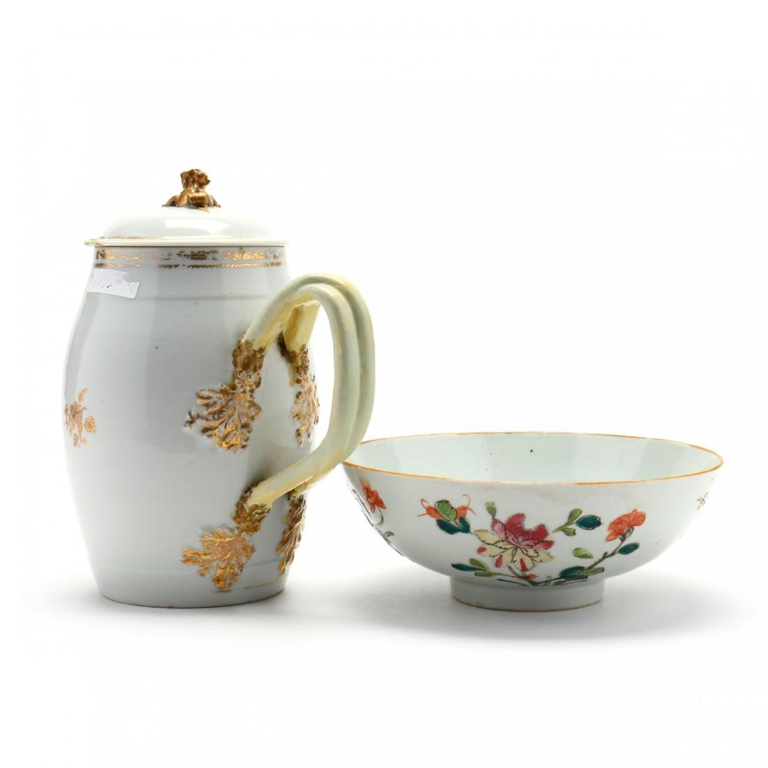 Antique Chinese Export Pitcher and Bowl - 2